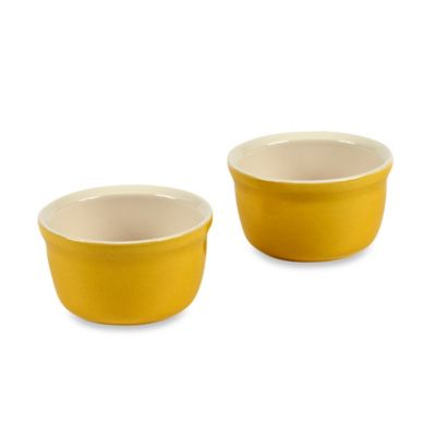 Emile Henry Modern Classics 3.5-Inch Ramekins in Yellow (Set of 2)