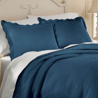 Matelassé Coventry European Sham in Cobalt