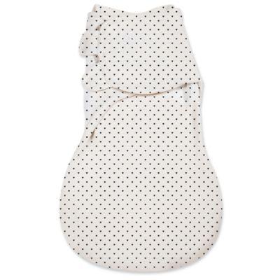 SwaddleMe® Large Mod Hearts WrapSack™ in Black/White
