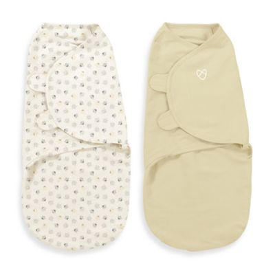 SwaddleMe® 2-Pack Large Baby Bees Organic Cotton Swaddle