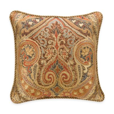 Bridge Street Naples Damask Reversible Square Throw Pillow