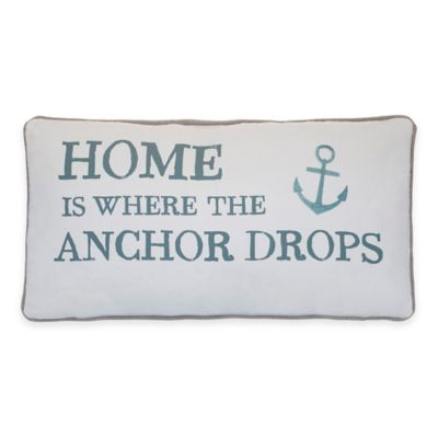 Provincetown Home Oblong Throw Pillow in Grey
