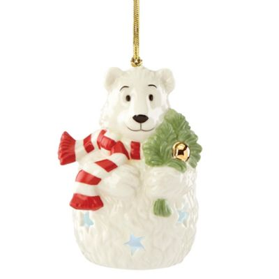 Lenox® Lit Color-Changing Polar Bear Ornament