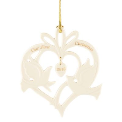 "Lenox® ""Our First Christmas 2015"" Dove Ornament"