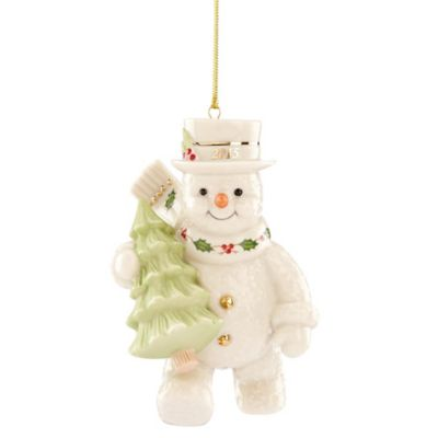Porcelain Snowman Ornament