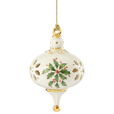 Holly Christmas Ornament