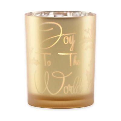 "Lenox® Mercury Glass ""Joy To the World"" Votive"