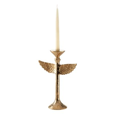 Nima Oberoi Lunares Feathers Collection Wing Candleholder in Gold