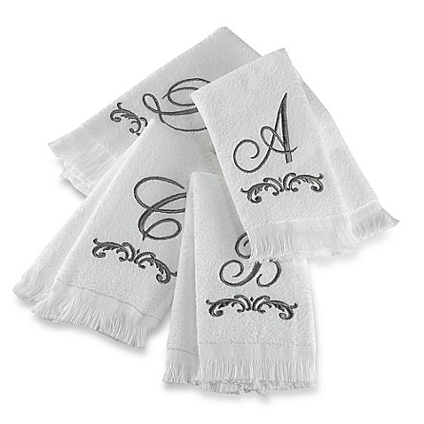 Avanti Monogram Fingertip Towels