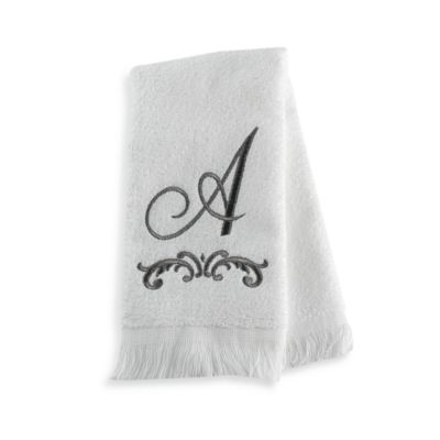 "Monogram Letter A"" Fingertip Towel"