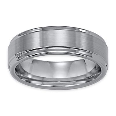 Triton® Tungsten Carbide Brushed Finish with Rounded Edge Size 10.5 Comfort-Fit Wedding Band