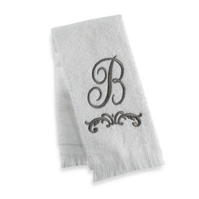 """Avanti Monogram Letter """"B"""" Fingertip Towel"""