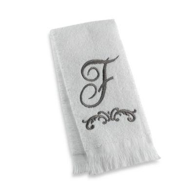 """Avanti Monogram Letter """"F"""" Fingertip Towel"""