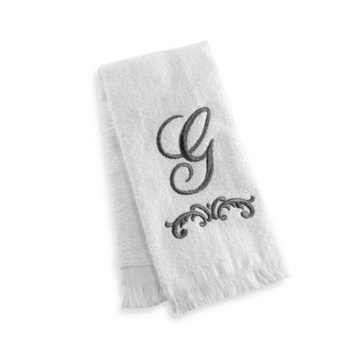 """Avanti Monogram Letter """"G"""" Fingertip Towel"""