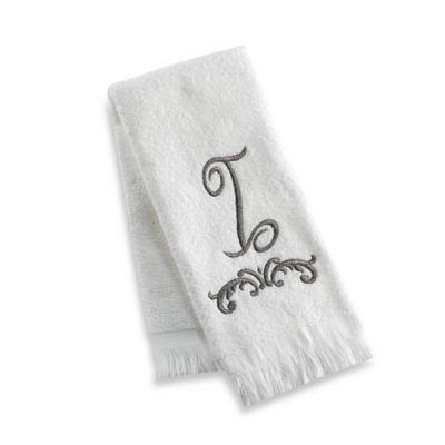"""Avanti Monogram Letter """"I"""" Fingertip Towel"""