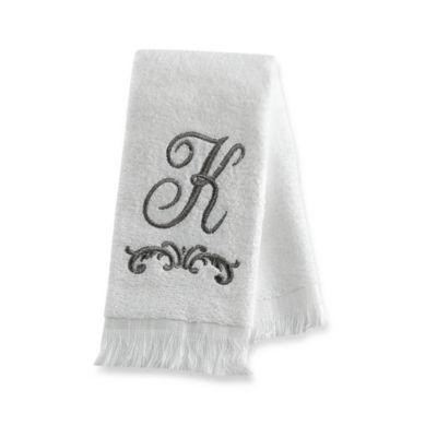 """Avanti Monogram Letter """"K"""" Fingertip Towel"""
