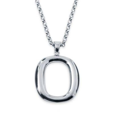 Charles Garnier Britannia Sterling Silver 18-Inch Open Oval Pendant Necklace