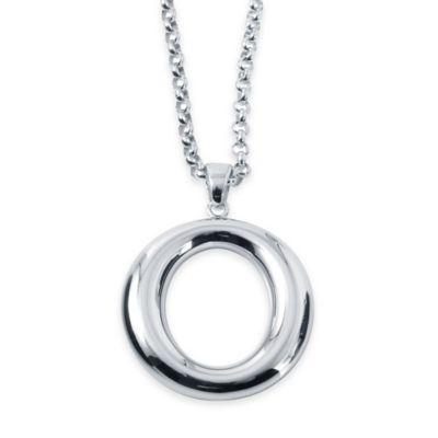 Charles Garnier Britannia Sterling Silver 18-Inch Open Round Pendant Necklace