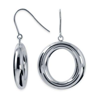 Charles Garnier Britannia Sterling Silver Open Round Drop Earring