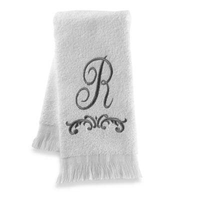 """Avanti Monogram Letter """"R"""" Fingertip Towel"""