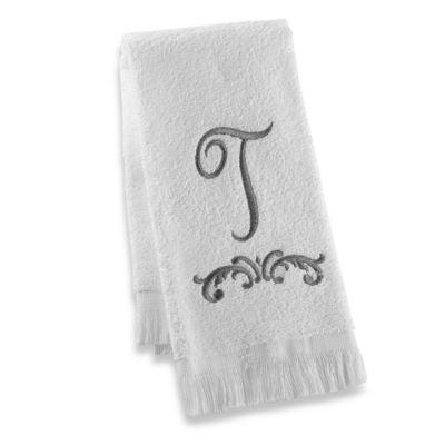 """Avanti Monogram Letter """"T"""" Fingertip Towel"""