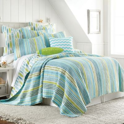 Beach Break Reversible King Pillow Sham in Blue