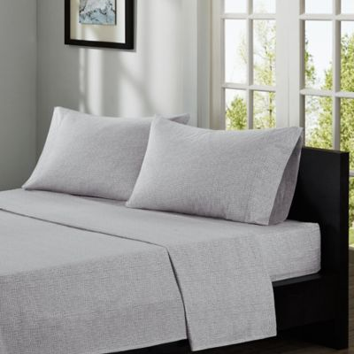 INK+IVY Cora 200-Thread Count Printed Twin Sheet Set in Taupe