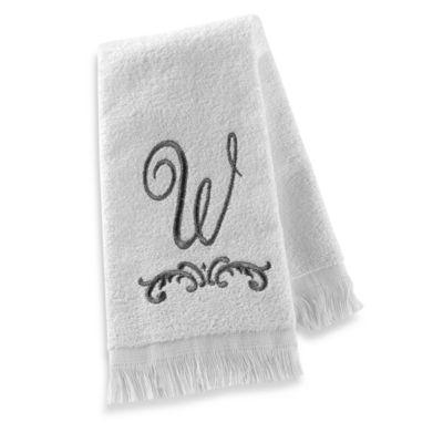 """Avanti Monogram Letter """"W"""" Fingertip Towel"""