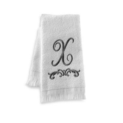 """Avanti Monogram Letter """"X"""" Fingertip Towel"""