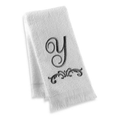 """Avanti Monogram Letter """"Y"""" Fingertip Towel"""