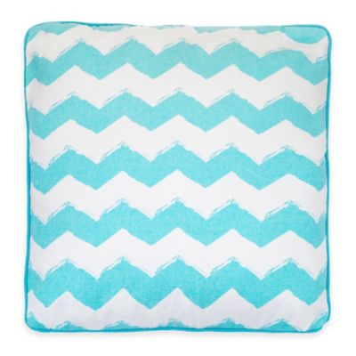 Beach Break Square Throw Pillow in Blue