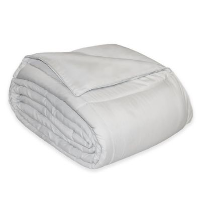 Microfiber Down Alternative King Comforter in Platinum
