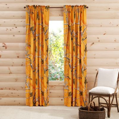 Realtree® Brights Camo Collection 84-Inch Window Panel Pair in Orange