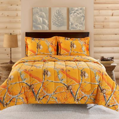 Realtree® Brights Camo Collection 3-Piece Queen Comforter Set in Orange