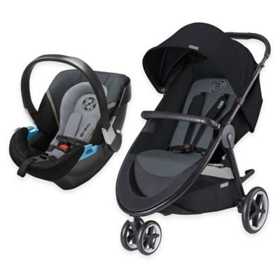 Cybex Agis & Aton 2 Travel System in Moon Dust