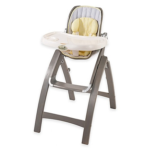 Summer Infant Bentwood High Chair in Chevron Leaf