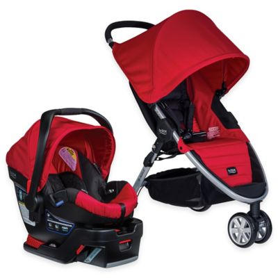 BRITAX B-Agile 3/B-Safe 35 Travel System in Red