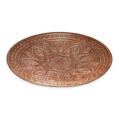 Simplydesignz Bodoni Raj 16-Inch Platter in Copper