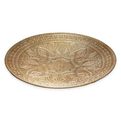 Simply Designz Raj 16-Inch Platter in Gold