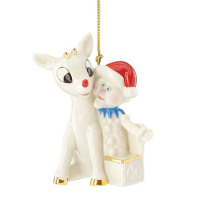 Lenox® Rudolph and Charlie in the Box Ornament