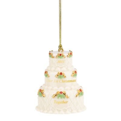 "Lenox® 2015 ""Our First Christmas Together"" Cake Ornament"