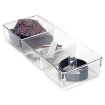 InterDesign® Linus 13-Inch x 5-Inch 3-Compartment Storage Bin