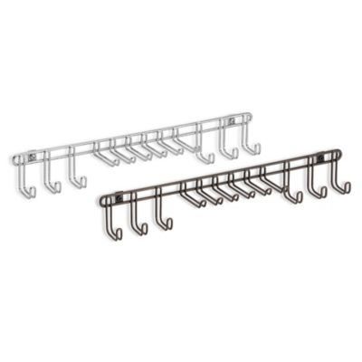 InterDesign® Classico 12-Hook Wall-Mount Tie/Belt Rack in Chrome