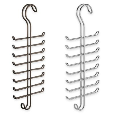 InterDesign® Classico Hanging Tie/Belt Rack in Chrome