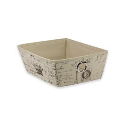 Home Basics® Small Paris Pattern Storage Tote Box