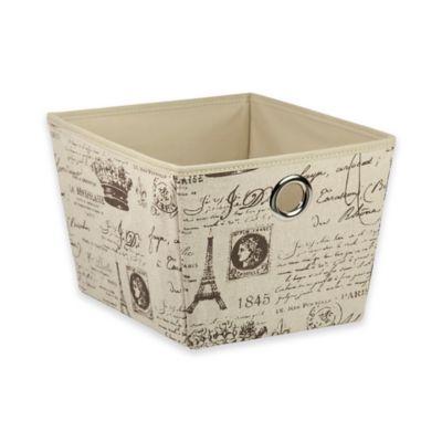 Home Basics® Medium Paris Pattern Storage Tote Box