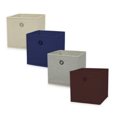 Home Basics® Storage Bin with Handle in Navy