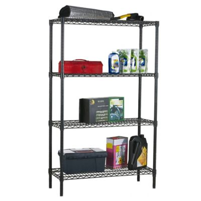 Black 4 Tier Shelf