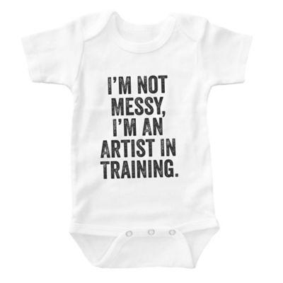 """Posh365 Size 0-3M """"Artist in Training"""" Bodysuit in White"""