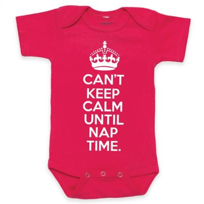 "Posh365 Size 0-3M ""Can't Keep Calm Until Nap Time."" Bodysuit in Pink"